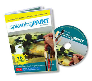 Splashing paint watercolor and mixed media instruction DVD