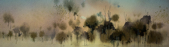 Example of watercolor on Cold Pressed Watercolor Paper