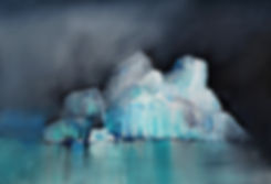 Watercolor painting of Antarctic iceburg