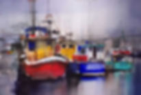 Painting Water - Wicklow Harbour watercolor © John Lovett