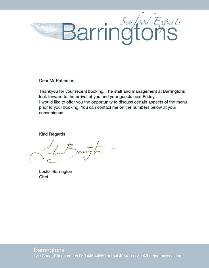 This letter demonstrates the importance of balancing empty space
