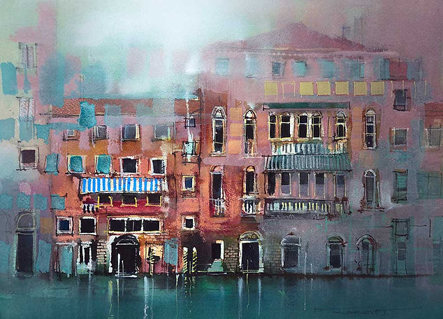 Explore a painting subject - Venetion facades