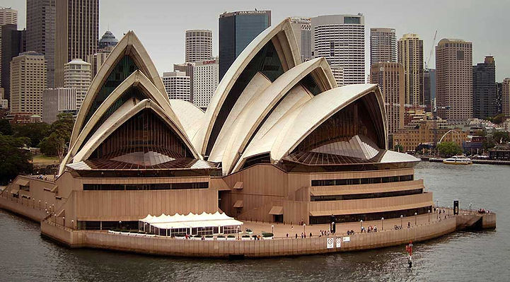Sydney Opera House showing gradation of direction