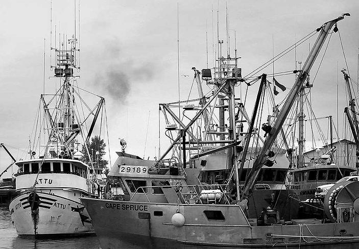 Fishing Trawler Photo showing contrast of Line © John Lovett 2013