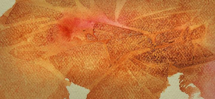 Watercolor Techniques - Cling Wrap Wash