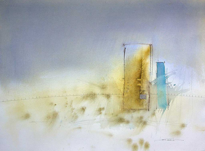 Painting featuring Yellow Ochre Watercolor