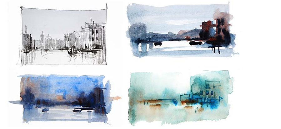 Colored thumbnail sketches