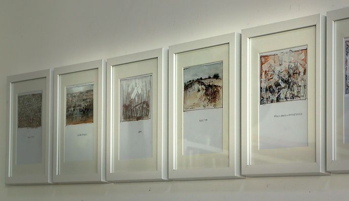 Small Paintings - framed and hanging