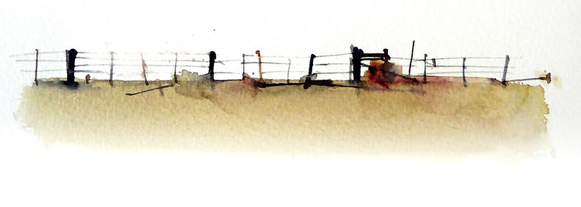 Painting of a fence with attention to Placement, spacing and variation