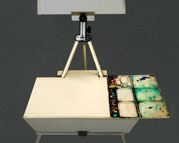 Traveling with Watercolor Tip 6. Lightweight Easel for Demonstrating
