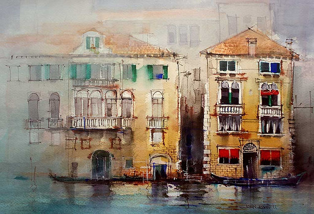 Venetian Facades make an interesting painting subject to explore