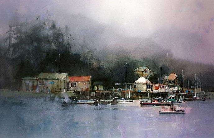 Painting Water - Still Water - © John Lovett