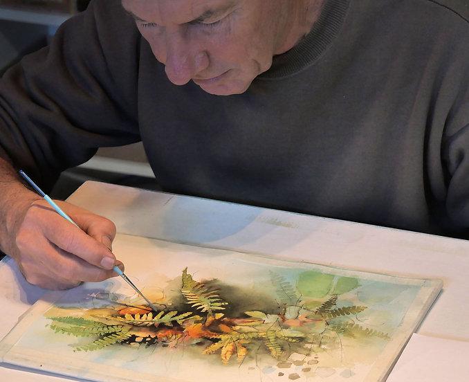 John Lovett Painting in Studio