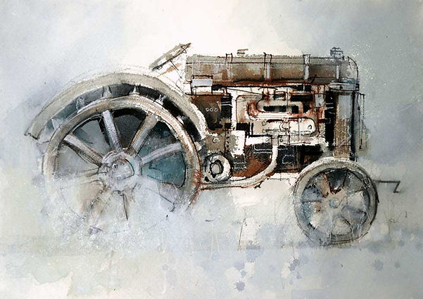 watercolor tractor  © John Lovett