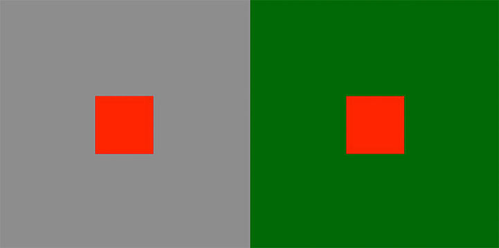 Complementary color contrast
