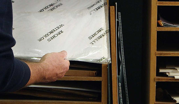 Watercolor Paper Storage