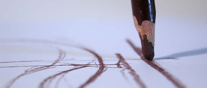 Pastel pencil marks