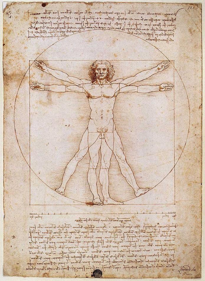 Vitruvian_Man_by_Leonardo_da_Vinci Public Domain via Wiki Commons