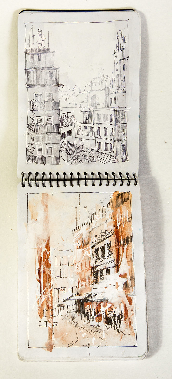 small traveling sketch book