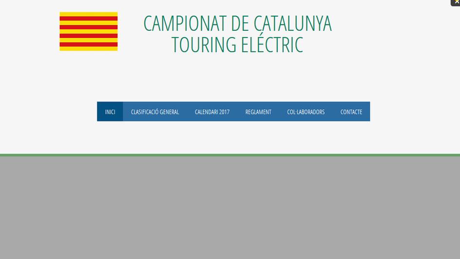 NOVA PÀGINA WEB CAMPIONAT DE CATALUNYA TOURING ELÈCTRIC (CCTE)
