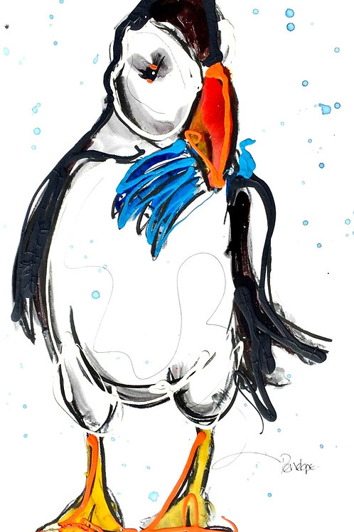 The Puffin Who Caught The Fish