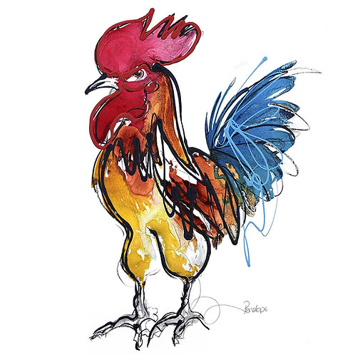 Rupert the Cockerel (PRINT)