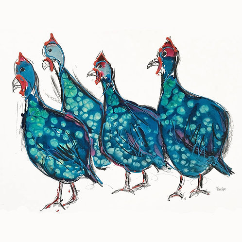 A Confusion Of Guinea Fowl