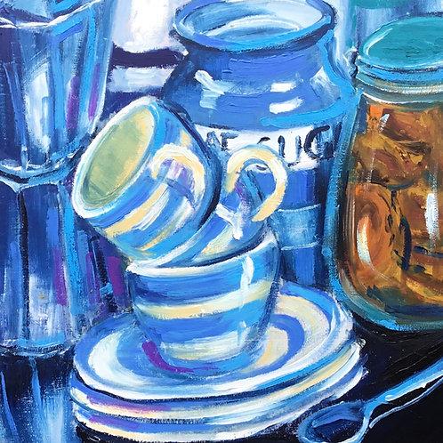 Coffee in Blue (PRINT)