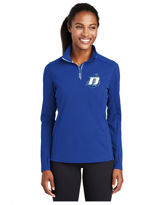 Textured 1/4 Zip Pullover - Ladies