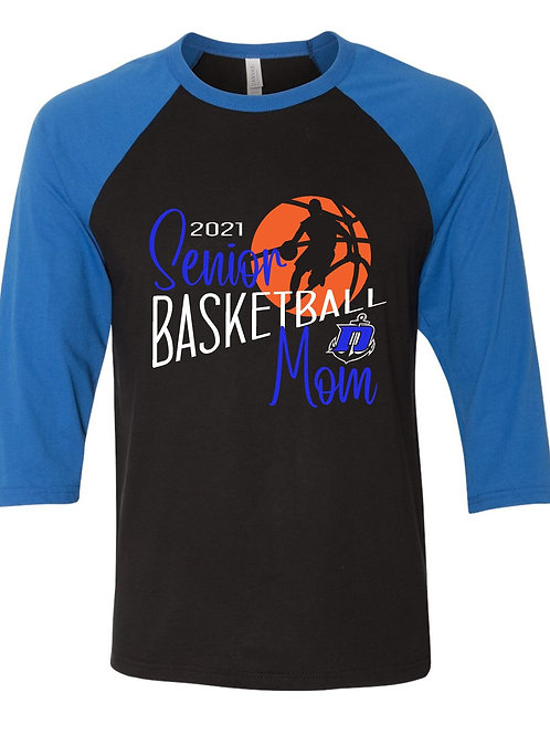 Senior Basketball Mom - 3/4 Sleeve (Personalized)