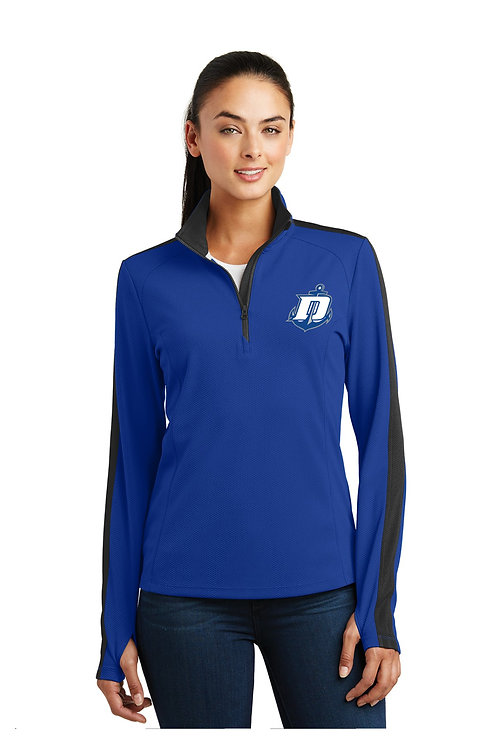 Textured Colorblock 1/4Zip Ladies