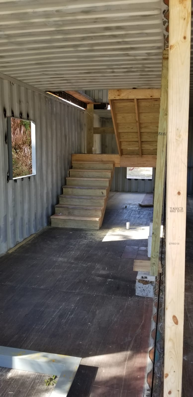 Container Home Stairwell