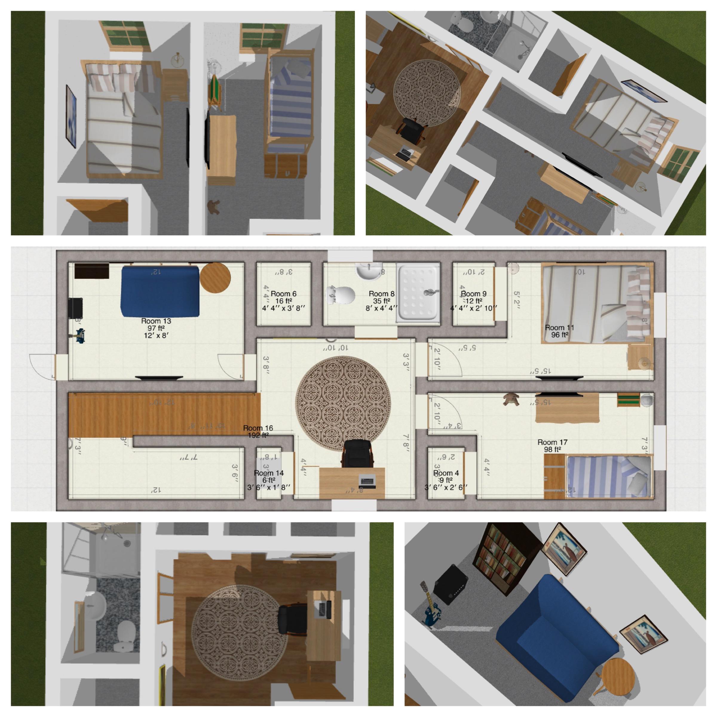 Second Floor Collage