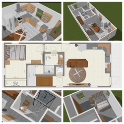 First Floor Container Home Collage