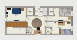 Second Story Container Home Plan