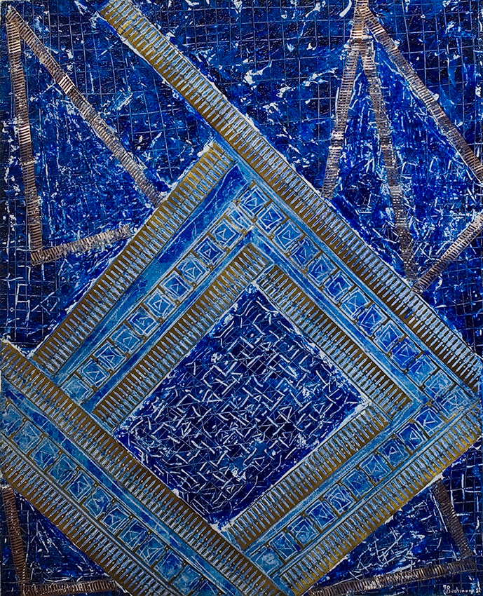 Mosaïque bleue