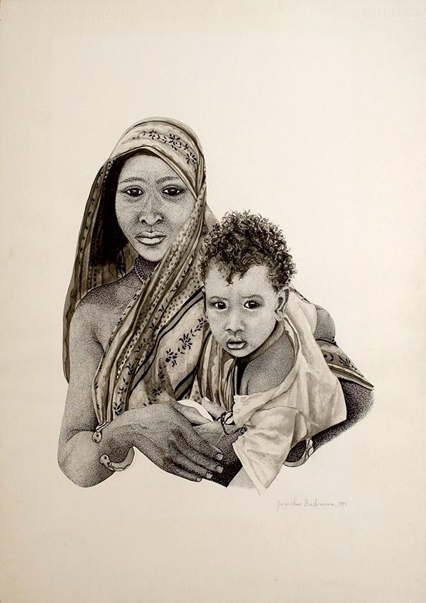 Nomade Rachaïda avec enfant