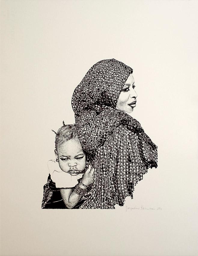 Femme Peull avec enfant