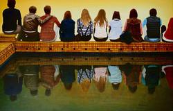 Jeunes sur le bassin