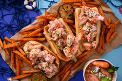 3 orders of Lobster Rolls