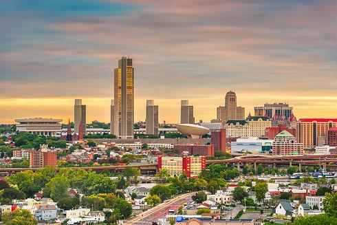 Albany, New York, USA downtown city skyl
