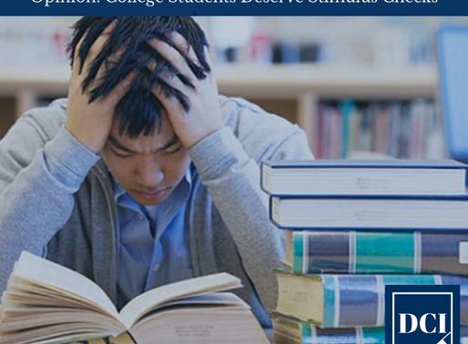 Opinion: College Students Deserve Stimulus Checks