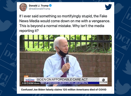 Biden Said 120 Million People Have Died from COVID. False.