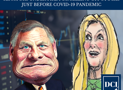 Senators Under Fire After Suspicious Stock Trading Just Before COVID-19 Pandemic
