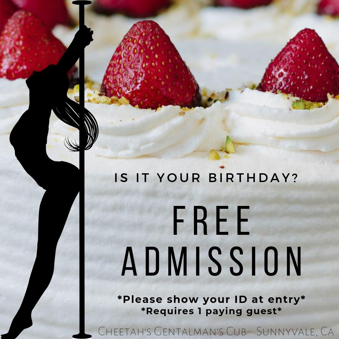 Free admission to birthdays 2