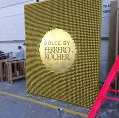 Ferrero Rocher - Featured wall in studio