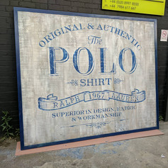 Stenciled & scenic Ralph Lauren shop sign