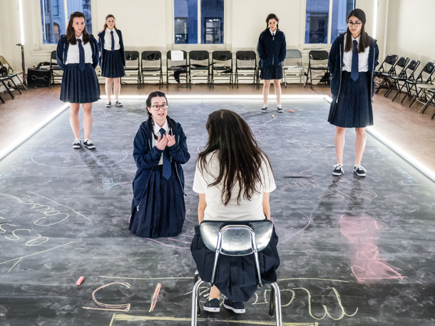 Violeta Picayo, Alyssa May Gold, Amie Tedesco, Déa Julien, Madeline Wolf and Miranda Cornell, the company of Julius Caesar 📷  Carol Julien