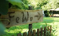 Schild zur den Ferienwohnungen