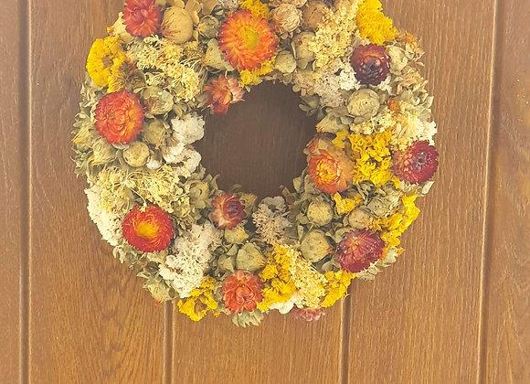 Small dried wreath